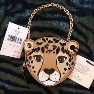 NWT Kate Spade Run Wild Leopard Coin Purse